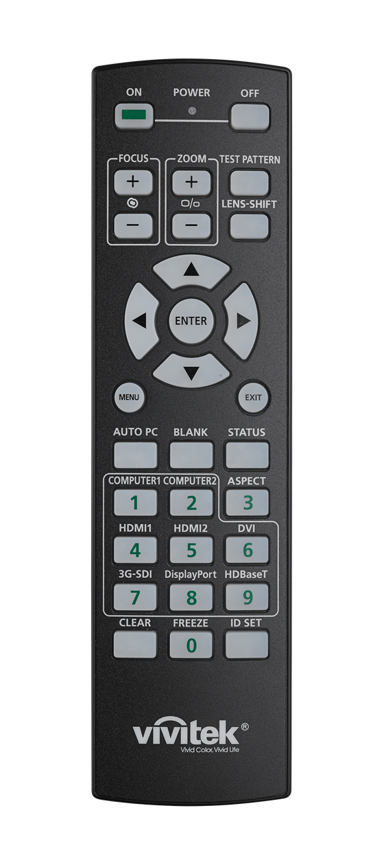 Vivitek DH8190Z Remote Lights Off